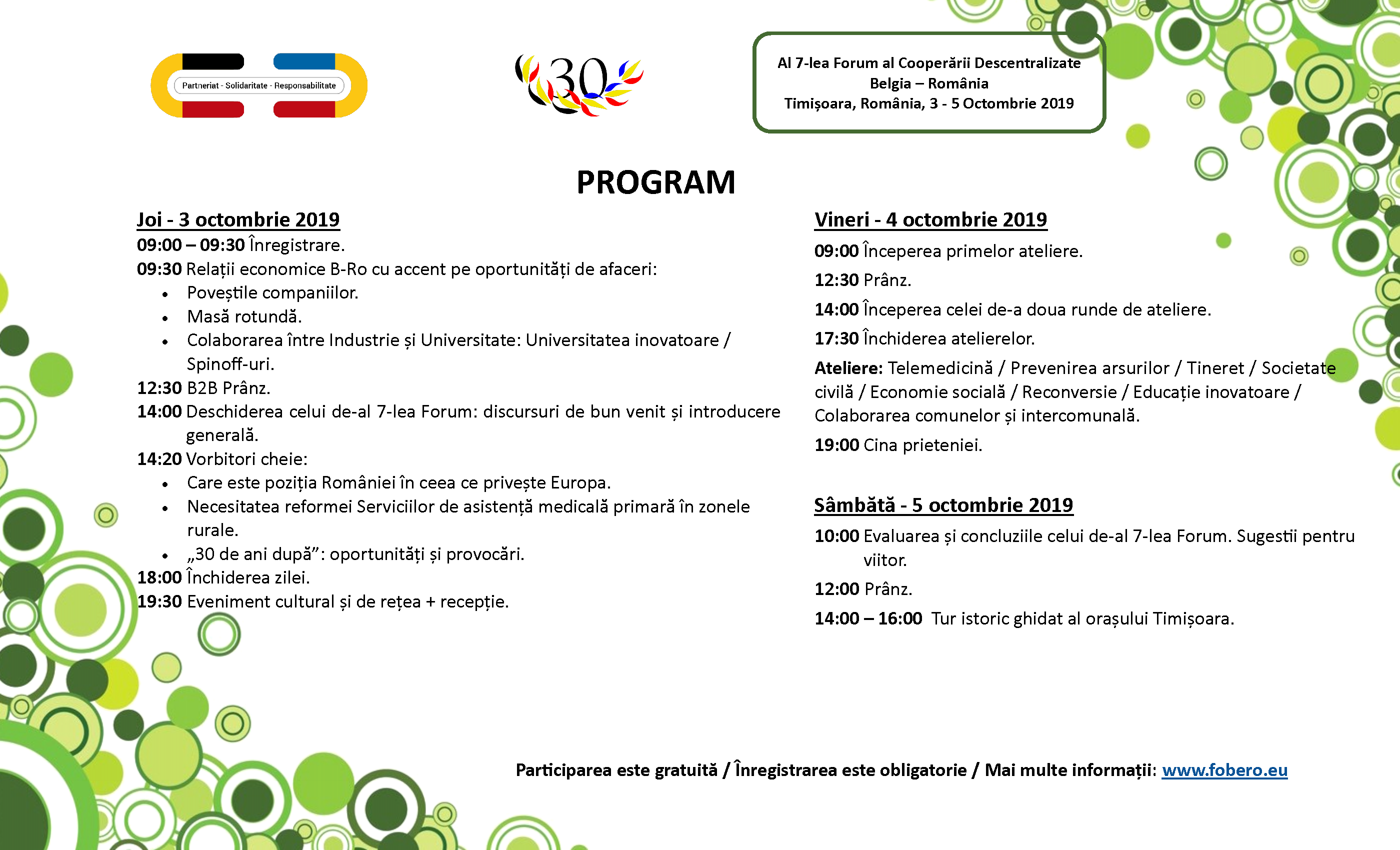 The_Open_Network_Al_7-lea_Forum_al_Cooperarii_Descentralizate_Belgia_Romania_program